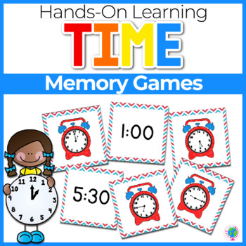 Time's Up! Memory/Match It! Cards for telling time from ho