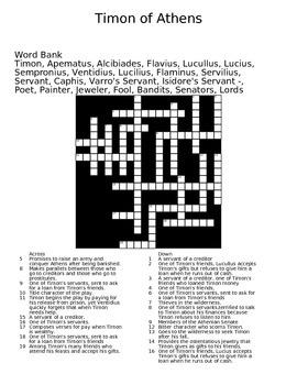 Timon of Athens Crossword