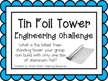 Tin Foil Tower: Engineering Challenge Project ~ Great STEM