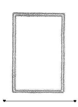 Tiny Hearts Frame/Border for Writing or Drawing