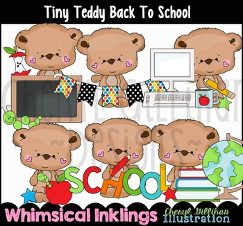 Tiny Teddy Back to School Clipart Collection