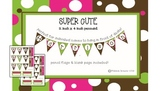 Tiny pennant printable! Goes with Coffee and Candy theme pack!