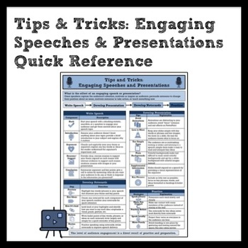 Tips & Tricks: Creating Engaging Speeches and Presentation