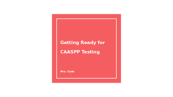 Tips and Tricks for CAASPP testing
