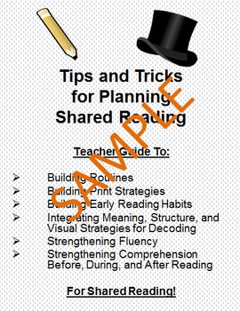 Tips and Tricks for Planning and Instructing Shared Reading