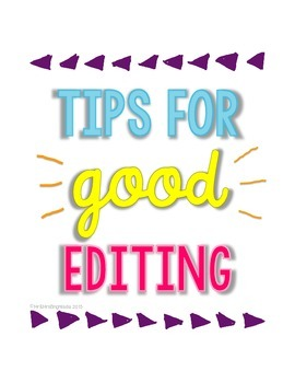 Tips for Good Editing