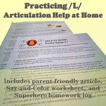 Tips for Parents: Facilitate /L/ at home