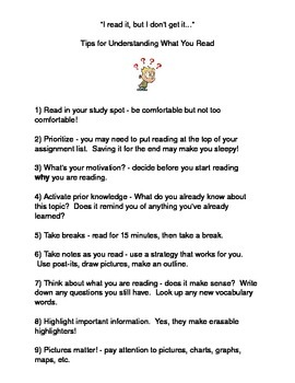 Tips for Understanding What You Read!