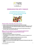 Tips for communicating with families