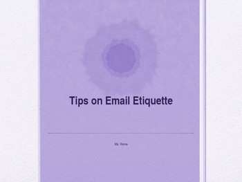 Tips on Email Etiquette