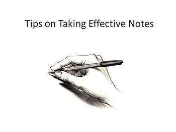 Tips on Taking Effective Lecture Notes