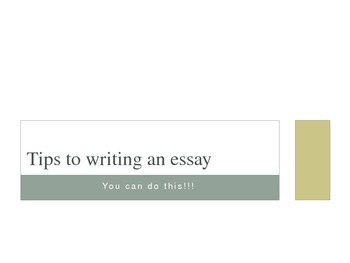 Tips to Writing an Essay
