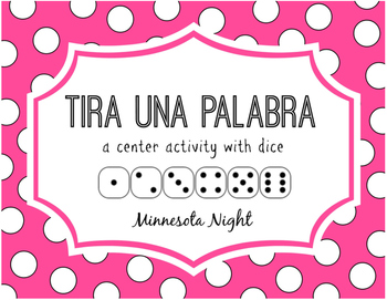 Tira una plabara: A Spanish Center Activity