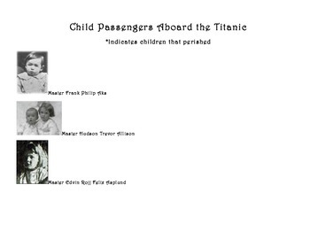 Titanic Child Passenger Boarding Passes