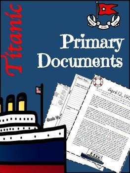 Titanic Primary Documents Lesson