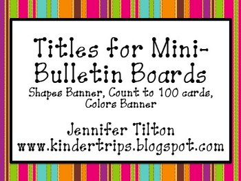 Titles for Mini-Bulletin Boards