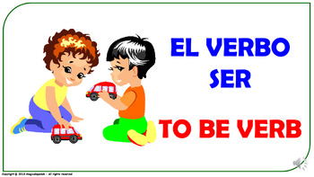 """To Be"" Verb in Spanish. Power Point Presentation with audio."