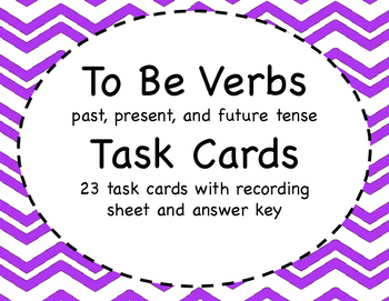 To Be Verbs Task Cards