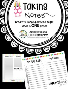 To Do List and Note Taking Templates
