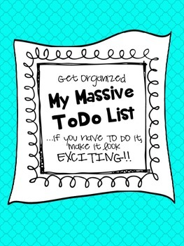 My Massive To Do List