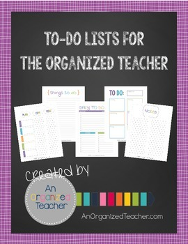 To Do Lists For The Organized Teacher