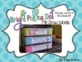 To File, To Grade, To Copy Desk Organizer - Bright Polka Dots
