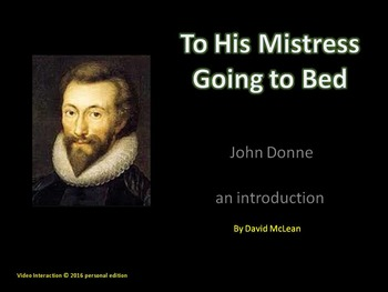 To His Mistress by John Donne