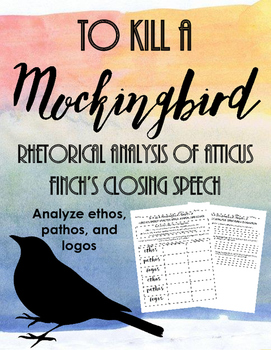 To Kill A Mockingbird Chapter 20: Rhetorical Analysis of A