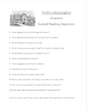 To Kill A Mockingbird Guided Reading Questions for Chapter 1