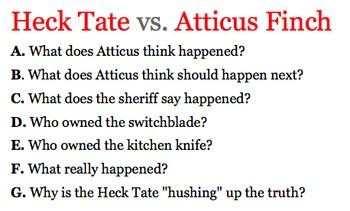 To Kill A Mockingbird - Heck Tate vs. Atticus Finch Porch