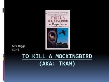 To Kill A Mockingbird Introduction Lesson