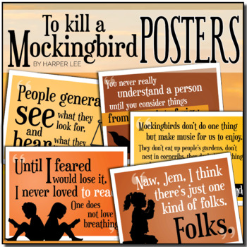 {To Kill A Mockingbird} Key Quotes POSTERS