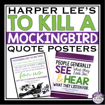 TO KILL A MOCKINGBIRD POSTERS WITH QUOTES