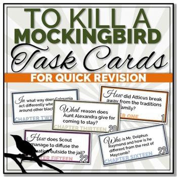 {To Kill A Mockingbird} Quick Revision TASK CARDS