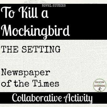 To Kill A Mockingbird Setting Activity