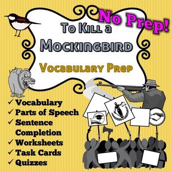 To Kill A Mockingbird Vocabulary -No Prep- Task Cards, Hom