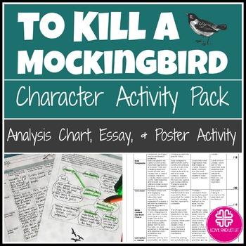 To Kill a Mockingbird Activity With Character Analysis, Po