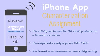 Character iPhone Apps Assignment