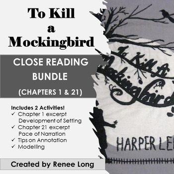To Kill a Mockingbird Close Reading Pack, Chapters 1 & 21