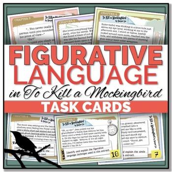 {To Kill a Mockingbird} Figurative Language TASK CARDS