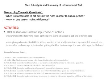 To Kill a Mockingbird Online/Blended Learning Thematic Unit