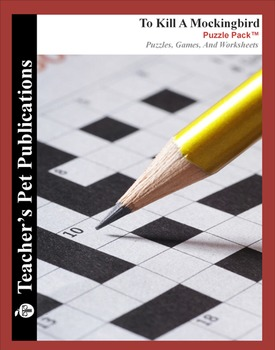 To Kill a Mockingbird: Puzzle Pack - Crosswords, Worksheet