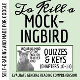 To Kill a Mockingbird Quiz (Chapters 10-11)