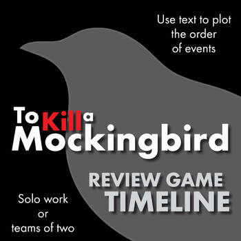 To Kill a Mockingbird, Review Game Worksheet of Timeline i