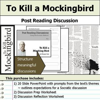 To Kill a Mockingbird - Socratic Method - Post Reading Dis