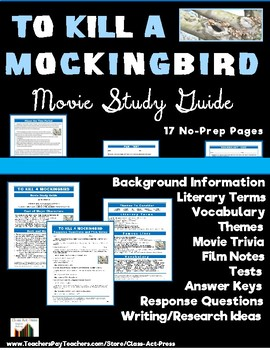 To Kill a Mockingbird: Study Guide for the Film (16 Pg., A
