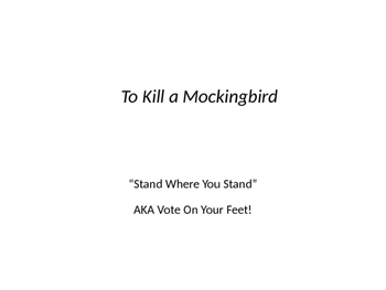 To Kill a Mockingbird Theme and Novel Intro