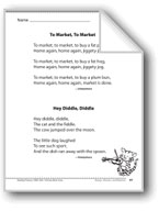 To Market,To Market/Hey Diddle, Diddle (Two rhymes)