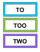 """To, Too, and Two!"" - Learn about Homophones with a Game,"