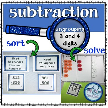To Ungroup or Not to Ungroup? 3 and 4 digit subtraction